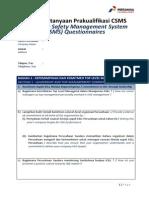 Daftar Pertanyaan Prakualifikasi CSMS-HSE