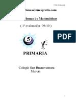 Problemario de Matematicas 5 Grado de Primaria