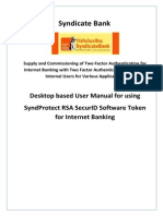 SyndicateBank UserManualDesktopBasedSoftware-Token v3.1