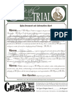 Witch Trial Rules