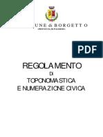 Intitolazione Piazza Iregolamento Borgetto