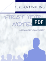 Technical Report Writing Notes - Akshansh