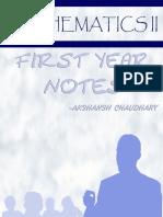 Maths II Complex Number Notes - Akshansh