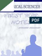 Electrical Science Notes - Akshansh