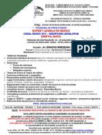 Oferta Program -Expert Legislatia Muncii -Codul Muncii 2015-22-25 Ianuarie 2015- Sinaia - h. Rina Sinaia