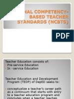 National Competency-based Teacher Standards (Ncbts)