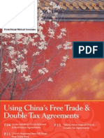 Using China's Free Trade & Double Tax Agreements