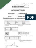 4. Soal TUC-1 2014 IPA Purworejo
