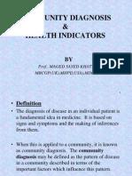 Community Diagnosis  Health Indicators.ppt