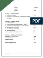Effectiveness of Logistics Management 2013-2014 A