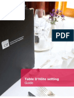 Table d'hôte Guide
