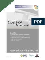Excel 2007 Advanced Best STL Training Manual