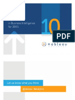 Top10 Trends in Business Intelligence for 2015