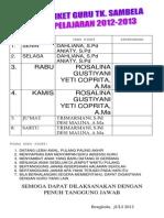 Daftar Piket 12-13