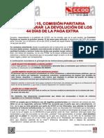 1971082-Jueves 15, Comision Paritaria Para Aclarar La Devolucion de Los 44 Dias de La Paga Extra en Correos