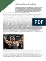 Suplementos De Testosterona Efectos Secundarios