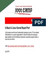 Sitara Boot Camp Uboot Linux Kernel Board Port