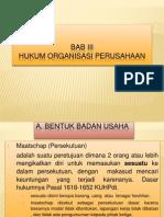 Hukum Organisasi Perusahaan