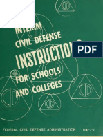 (1951) Interim Civil Defense Instructions for Schools and Colleges