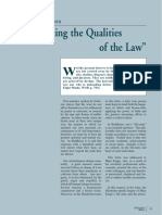 Manifesting the qualities of the law