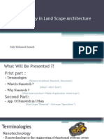 Nanotechnology in Land Scape Architecture
