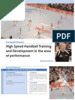 Training High Speed Handball