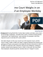 U.S. Supreme Court Weighs in on Definition of an Employee Workday