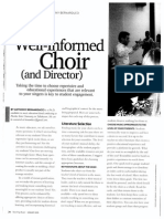 The Well-Informed Choir (and Director)