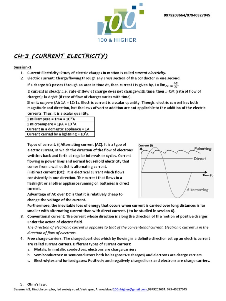 Ch-3,2014 | Electrical Resistivity And Conductivity | Electric Current