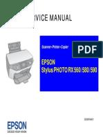 Epson Stylus Photo Rx560 580 590