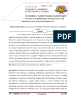A STUDY OF EFFECT OF CONCEPT ATTAINMENT MODEL ON ACHIEVEMENT OF GEOMETRIC CONCEPTS OF VIII STANDARD STUDENTS OF ENGLISH MEDIUM STUDENTS OF AURANGABAD CITY