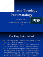 Syst Theol Lecture 20-22 Pneumatology