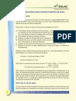 Metodologas Para Aforar Fuentes de Agua - Pasolac