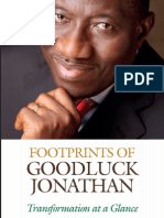 Footprints of Goodluck Jonathan - Transformation at a Glance