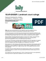 YEAR-EnDER- Landmark Court Rulings