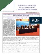 Boletín del Grupo Socialista del Cabildo de Tenerife 108. 5 - 11 de enero 2015