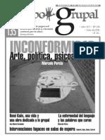 Revista Campo Grupal nº 135 - Marcelo Percia - INCONFORMIDAD, arte, política, psicoanálisis.