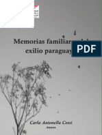 Memorias Memorias Familiares Del Exilio Paraguayo