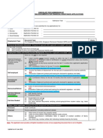 Checklist for bursary