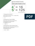 Cara Menghitung Nilai Pangkat Di Excel