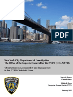 New York Inspector General Report on Chokeholds