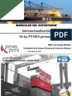Internacionalización de Las PYMES Peruanas
