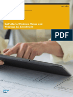 SP5 Afaria WindowsPhone WindowsDM Enrollment