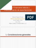 Gestión Financiera Básica y Financiamiento de Exportaciones