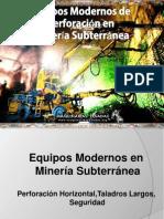 Curso Equipos Perforacion Modernos Mineria Subterranea