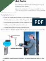 Biometric Attendance System X990