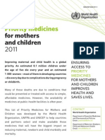Priority Medicine for Mother and Children