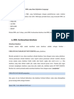 DDL Atau Data Definition Language - 1204505002