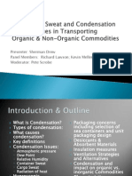 Container Sweat and Condensation Cargo