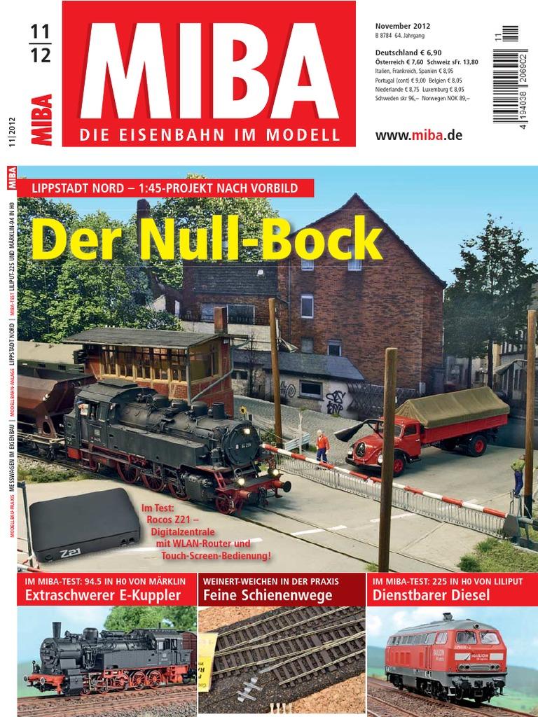 MIBA. Die Eisenbahn Im Modell 2012-11